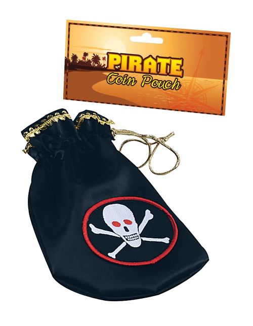 Pirate Coin Pouch Deluxe Buccaneer Sailor Jack Blackbeard Fancy Dress Party